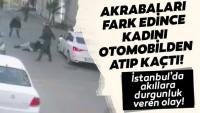 Sancaktepe'de kadını kaçırma teşebbüsü kamerada
