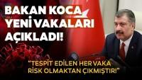 Sağlık Bakanı Fahrettin Koca, son koronavirüs vaka sayısını açıkladı.