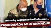 Koronavirüs yasağı olan 60 yaşındaki adam, hırsızlıktan tutuklandı!