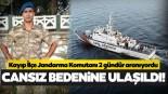 Gökçeada'da kayıp İlçe Jandarma Komutanı Musa Bulut'un cansız bedenine ulaşıldı