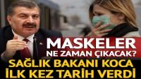 Maskeler ne zaman çıkacak? Sağlık Bakanı Fahrettin Koca'dan açıklama
