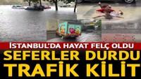 Son dakika: Olumsuz hava hayatı felç etti! İstanbul'da tramvay seferleri durdu