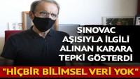 Prof. Dr. Mehmet Ceyhan'dan koronavirüs aşısıyla ilgili karara tepki