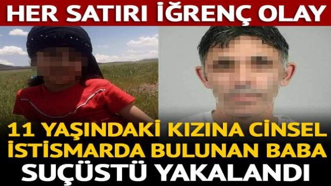 Kızına cinsel istismarda bulunan baba suçüstü yakalandı…