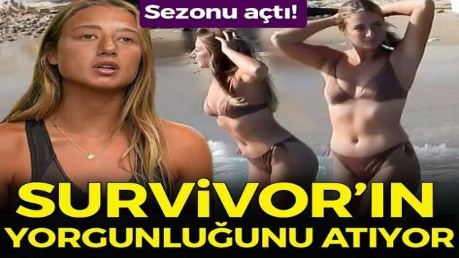 Survivor Aleyna Kalaycıoğlu, Çeşme tatilinde